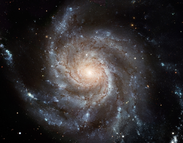 Hubble Space Telescope Photo of Messier 101 Galaxy